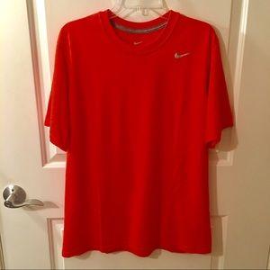 Nike Dri-Fit Short Sleeve Orange T-Shirt Size L